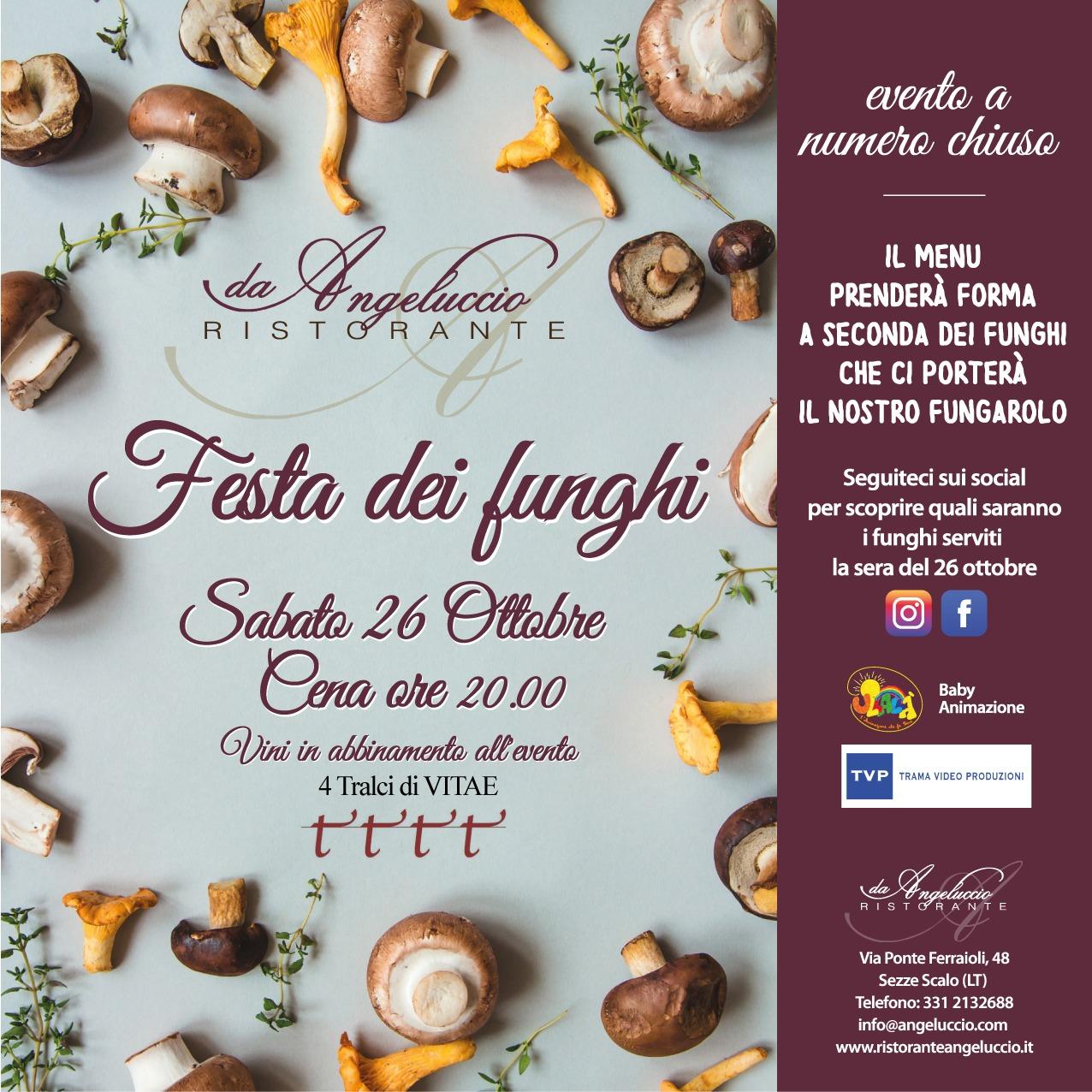 Festa dei funghi: 26 ottobre 2019
