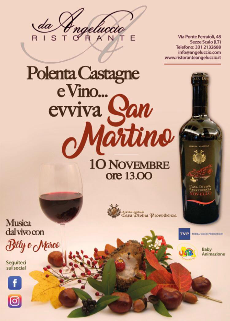 Polenta, castagne e vino... evviva San Martino - 10 novembre 2019